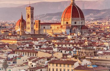 Skyline view of Florence, Italy with the Cathedral of Santa Maria del Fiore