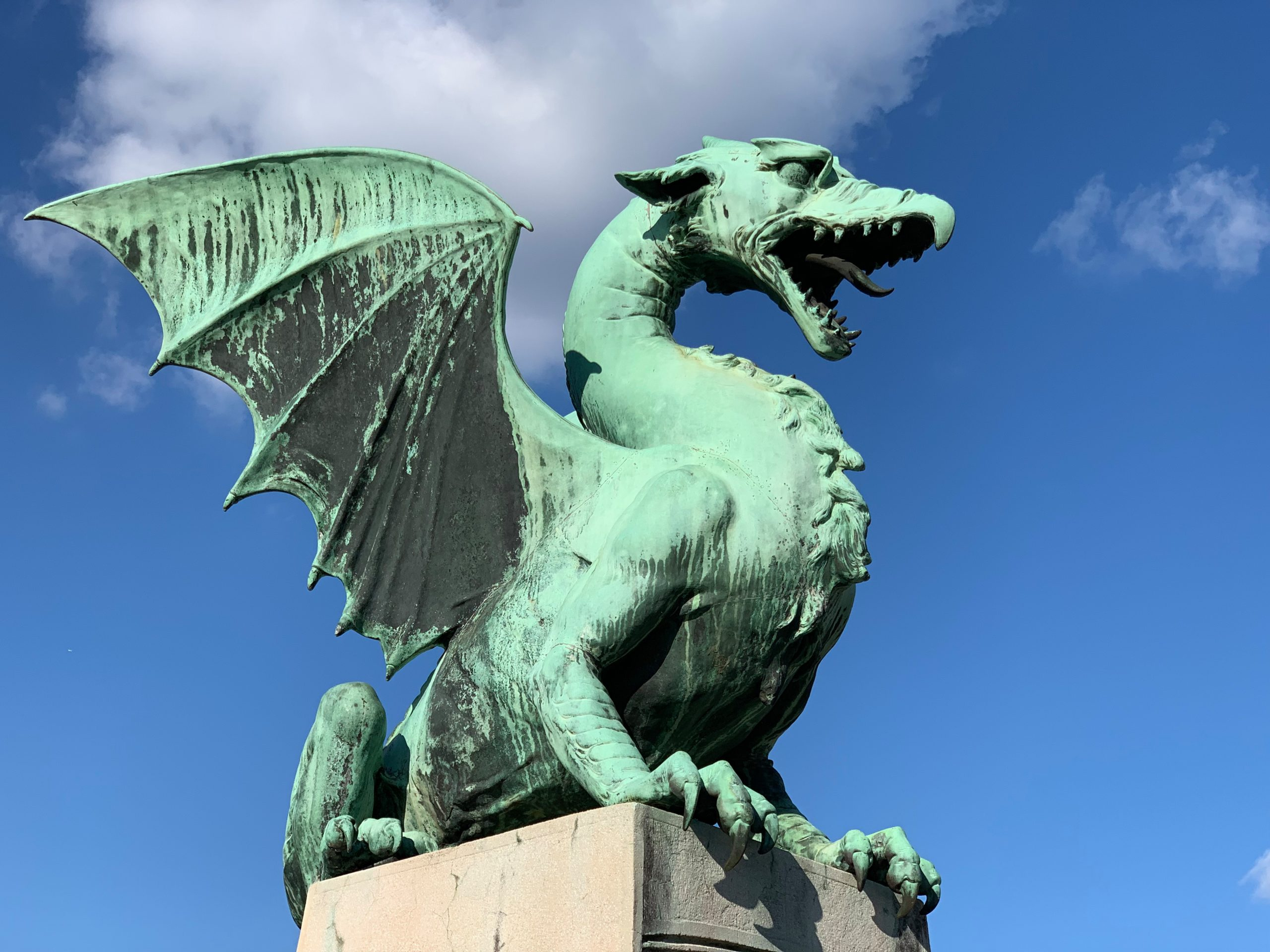 Dragon Statue in Slovenia