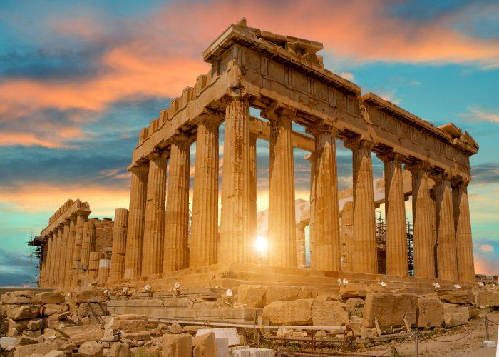 The Parthenon in Athens, Greece