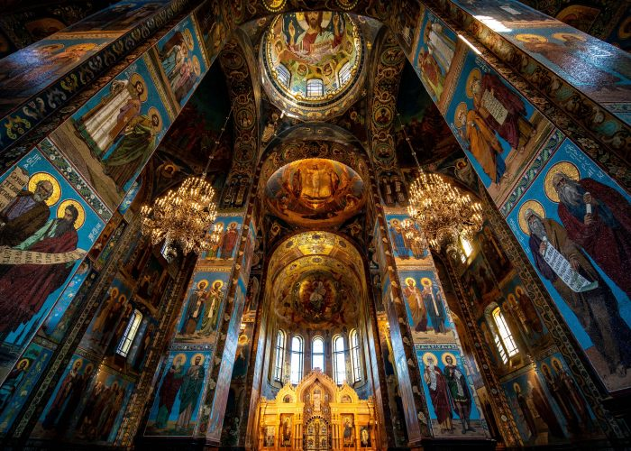 Interior of the Church of the Savior on Spilled Blood, Saint Petersburg