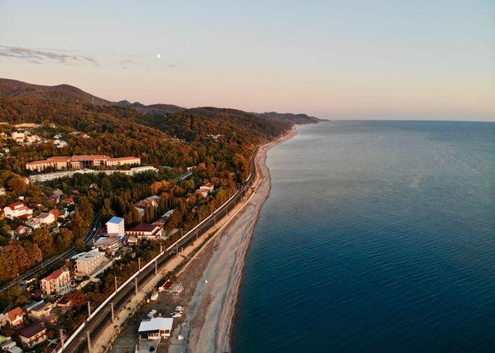 Black Sea coast in Krasnodar Krai, Russia